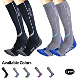 Thirty48 Elite Compression Socks Women & Men Graduated 20-30mmHg for Running, Athletic, Flight Sock - Performance & Recovery