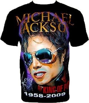 8a7b0760d782d MICHAEL JACKSON HIStory Tour T SHIRT   Silver Glasses R 554 FAN SHIRT Black  (L)  Amazon.co.uk  Sports   Outdoors