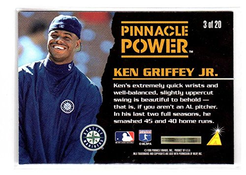 cd54eb3196 Amazon.com: 1996 Pinnacle Power Ken Griffey Jr #3 G Good: Collectibles & Fine  Art