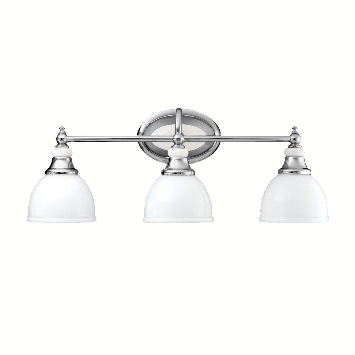 Kichler 5369CH Pocelona Bath 3-Light, Chrome - Vanity Lighting ...