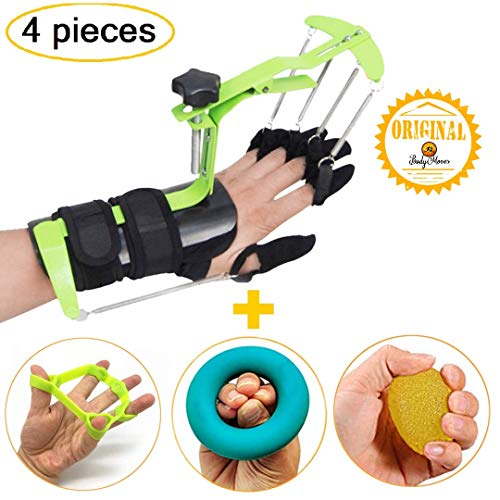 BodyMoves Finger Hand Training Device Recovery Equipment for Stroke Hemiplegia with Grip Power Strengthener Exerciser for Workout Guitar Fingers orthosis Correction and Prevention Activities ()