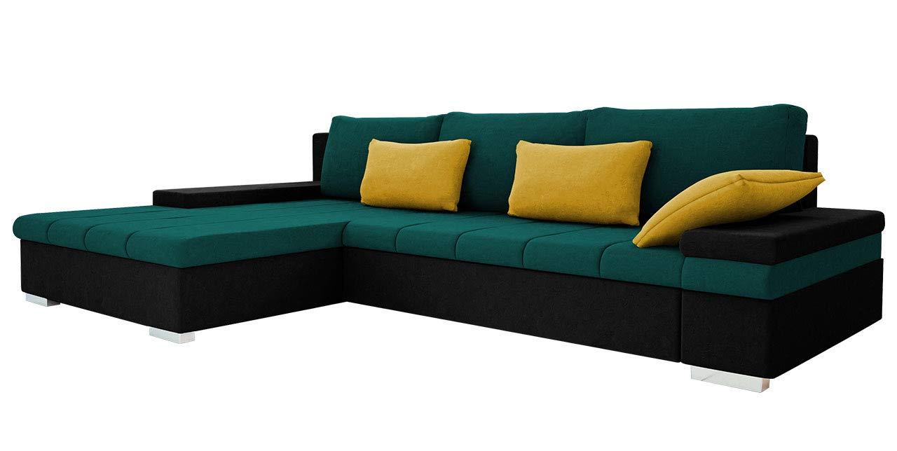 Design Ecksofa Bangkok, Moderne Eckcouch mit Schlaffunktion und Bettkasten, Ecksofa für Wohnzimmer, Gästezimmer, Couch L-Form, Wohnlandschaft, (Ecksofa Links, Mono 248 + Mono 238 + Mono 236)