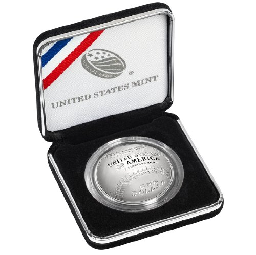 2014 National Baseball Hall of Fame Proof Silver Dollar Original Mint Packaging US Mint