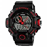 Skmei 1029 Mens Sport Watches Military Army Digital Watch 50m Water Resistant Red