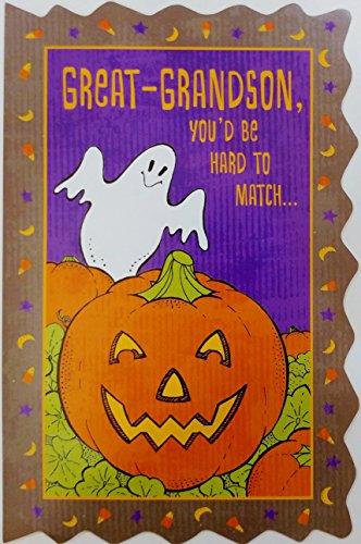 Great-Grandson Happy Halloween Greeting Card -