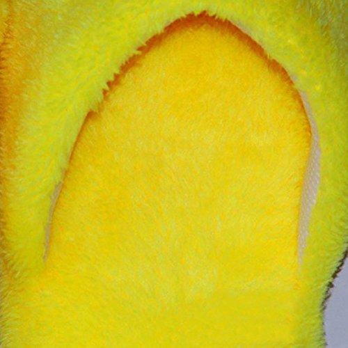 Rigole Chaussons Hiver Rire Coton Peluche Smiley Jaune Doux Chaussons Larme Jaune Homme Antidérapant Femme LUOEM Pantoufle Chauds Owtgwd