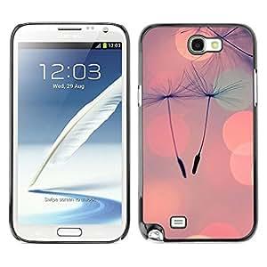 Caucho caso de Shell duro de la cubierta de accesorios de protección BY RAYDREAMMM - Samsung Galaxy Note 2 N7100 - Seed Peach Love Spring Summer