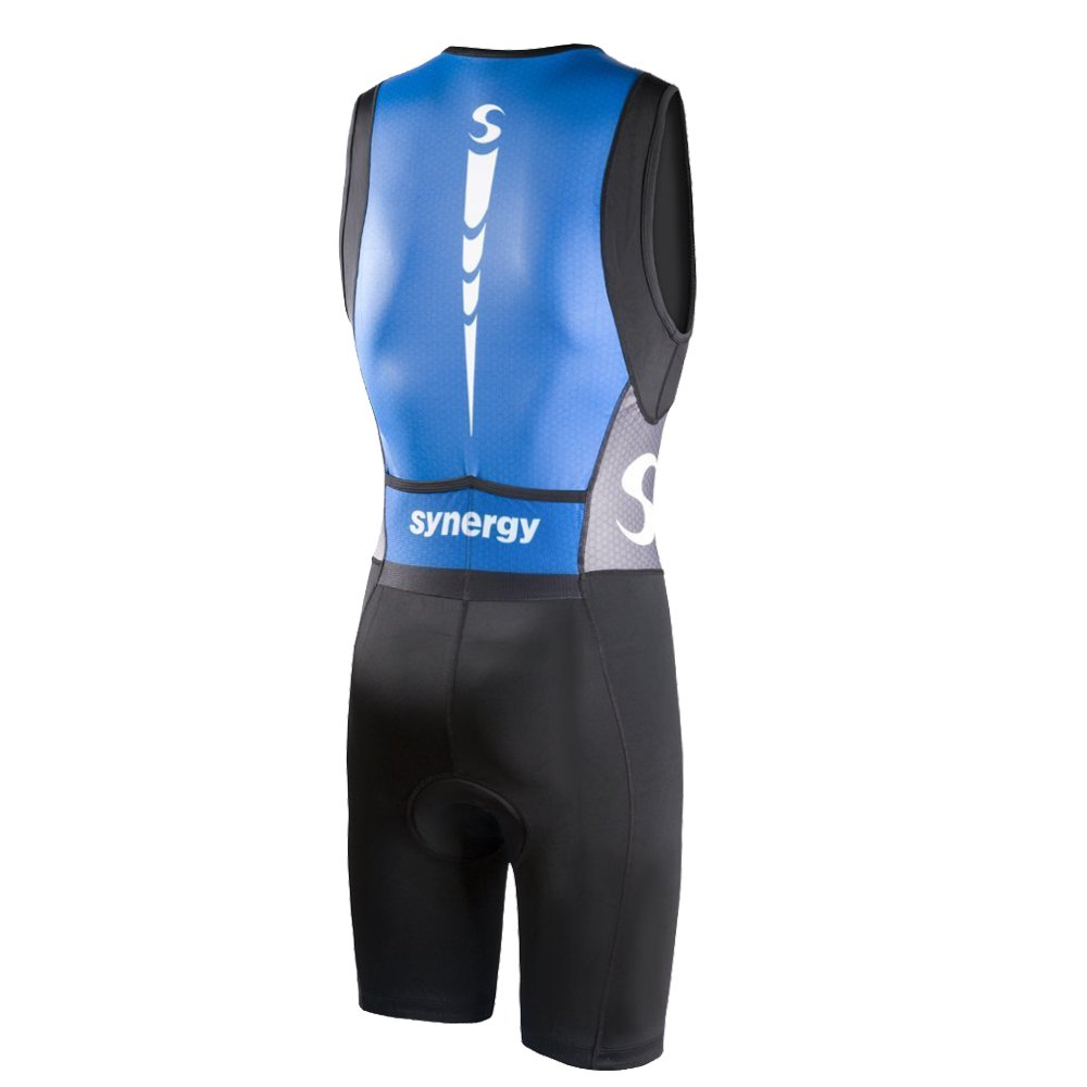 Synergy Men's Triathlon Trisuit (Blue/Black, Small) by Synergy (Image #1)
