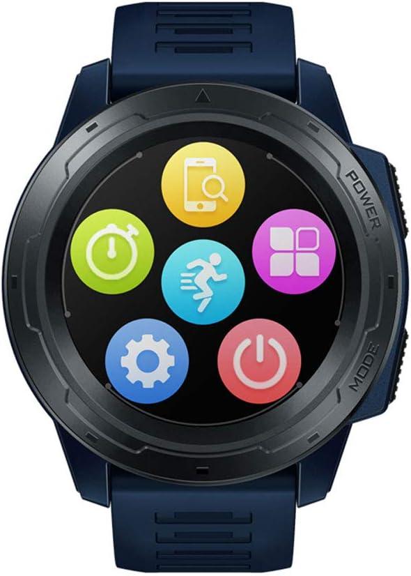 SUQIAOQIAO Zeblaze Vibe 5 Pro Batería De Larga Duración A Todo Color De 1,3 Ronda Pantalla Táctil Multi-Deportes Seguimiento Inteligente De Reloj,Azul