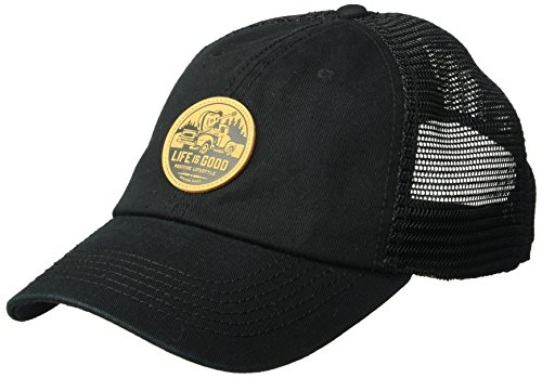 Life is Good A Soft Mesh Back Guitar Truck Patc Cold Weather Hats, Night Black, One Size by Life is Good