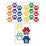 Fun Express Classroom Paw Shaped Floor Clings
