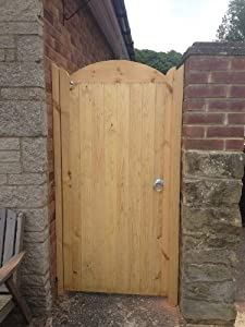 Wooden Curved Top Flb Garden Gate 1 8m H X 750mm W Amazon