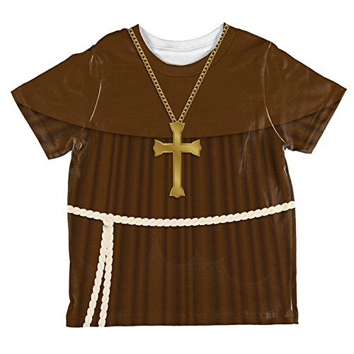 (Halloween Edwardian Monk Costume All Over Toddler T Shirt Multi)