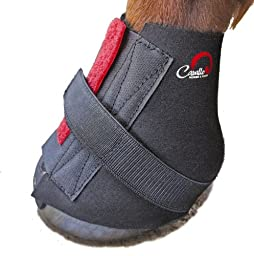 Cavallo Pastern Wrap for Horse Hoof Boot, Medium, Black