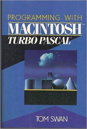 Programming With MacIntosh Turbo PASCAL: Tom Swan: 9780471624172: Amazon.com: Books
