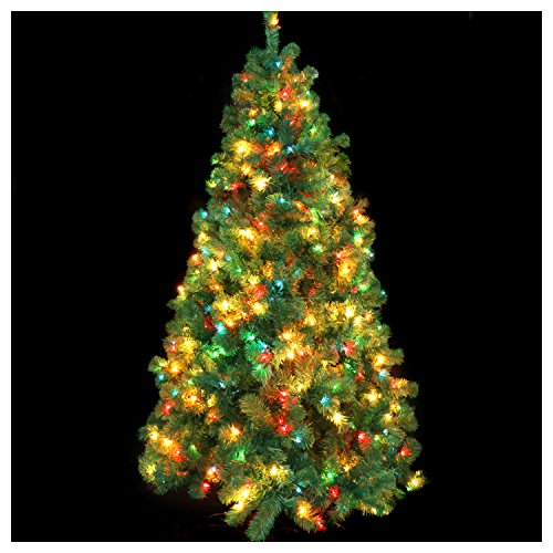 CASA CLAUSI Christmas Tree 6 1/2 Feet Pre-lit Multi-Colored Lights Artificial Green Madison Pine Tree Un-lit Trees