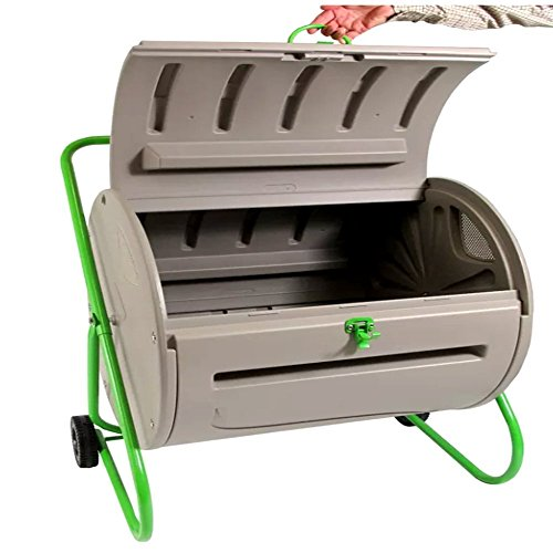 Best Compost Tumbler for Outdoor and Indoor use, Modern Large Wizard for Original Composter Tumbler 4.9 Cu Ft & E-Book