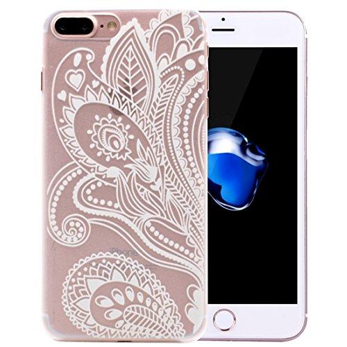 MXNET IPhone 7 Plus Fall, Mesh Blumenmuster Transparent PC Schutzhülle CASE FÜR IPHONE 7 PLUS ( SKU : Ip7p1456k )