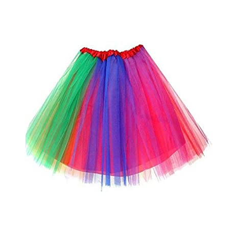 Gwxevce Adultos Niños Tulle Mini Tutu Falda Net Thread Ruffled ...