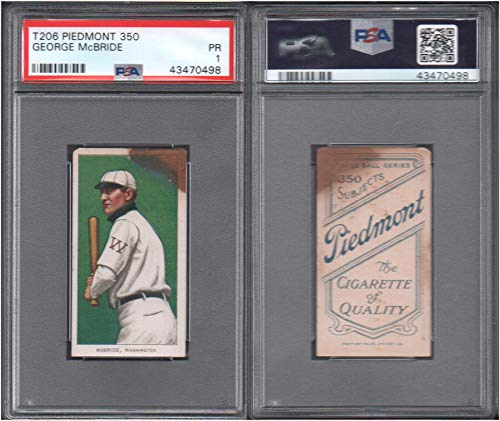 1909 t206 tobacco (baseball) card#303 psa george mcbride for sale  Delivered anywhere in USA