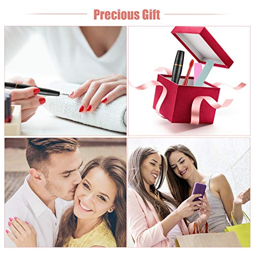 Funxim Electric Nail Drills for Acrylic Nails Files Kit Polishing Machine,USB Adjustable Speed Manicure Set for Women with 11 Drill Bits etc