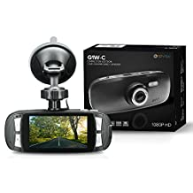 Spy Tec G1W-C 1080P Full HD Car Dash Camera w/Capacitor - No Battery | Black Box DVR Camera Video Recorder | Authentic NT96650 + AR0330