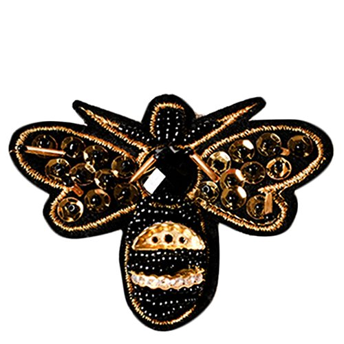 Hosaire 1 Pcs Iron Sew On Embroidered Patches Motif Applique Bee Clothed Decoration Patches Dress Backpack Jacket Jeans Hats Bag DIY Sew