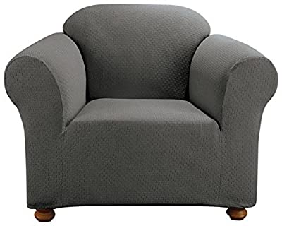 Sure Fit Simple Stretch Subway 1-Piece - Sofa Slipcover - Taupe