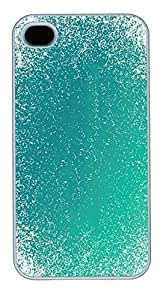 IPhone 4S Cases Aqua Blue Grunge Pattern HAC1014022 Polycarbonate Hard Case Back Cover for iPhone 4/4S White