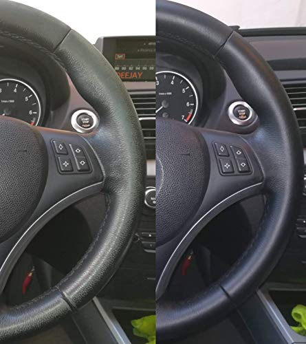 Colourcare24 kit Alfa Romeo - Kit de restauración cuero de fácil aplicación usura de volantes e pepita y otros articulos de piel, renovación de color negro ...
