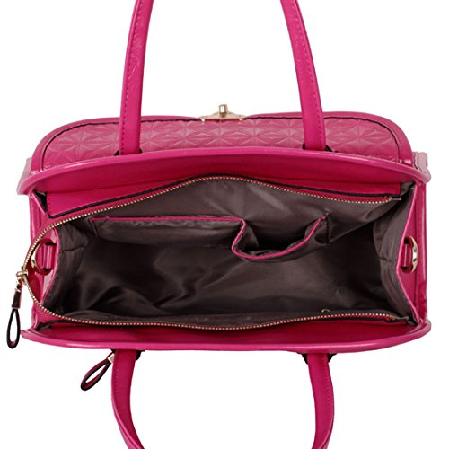 On Synthetic The Hand Crossed Leather Pocket Big Front Bag Zarla Woman Fuchsia Satchel With Pink Woman 7wwqn