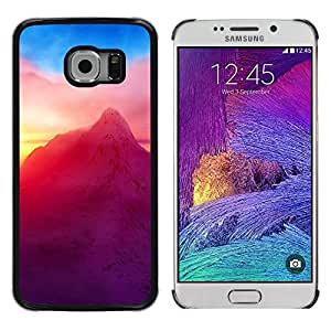 Caucho caso de Shell duro de la cubierta de accesorios de protección BY RAYDREAMMM - Samsung Galaxy S6 EDGE - Neón Montaña