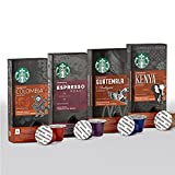 Nespresso Starbucks Colombia, Espresso, Guatemala, Kenya (40 count) Variety Assortment