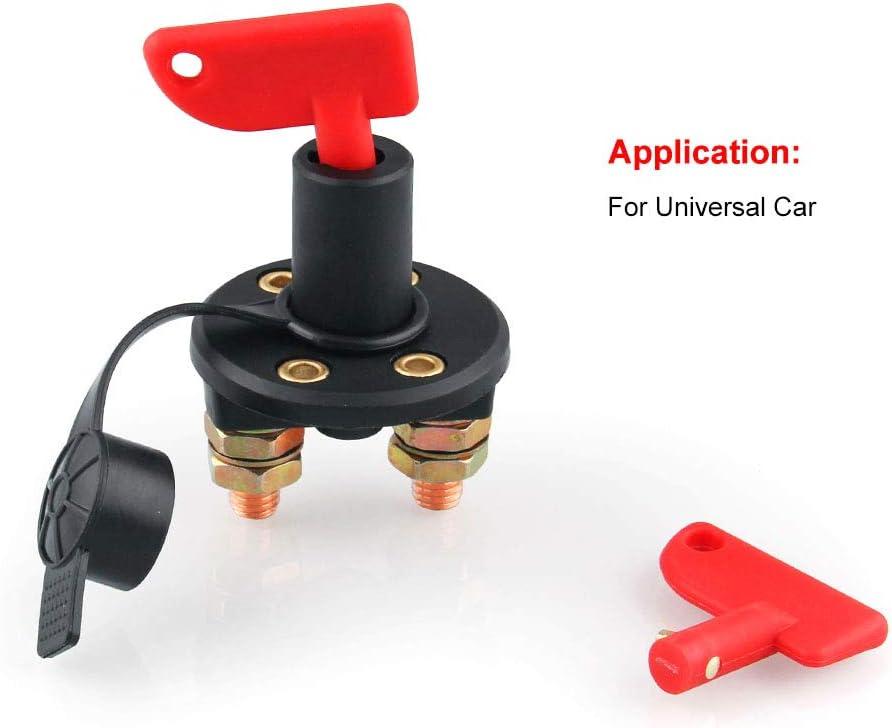 Car Retrofit Power Total Switch Battery Double-Pillar Leak-Proof Button Globaldream Automotive Battery Isolator Disconnector Cut Off Power