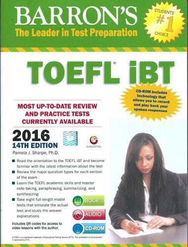 Barron's TOEFL iBT 2015 Guide (With DVD)