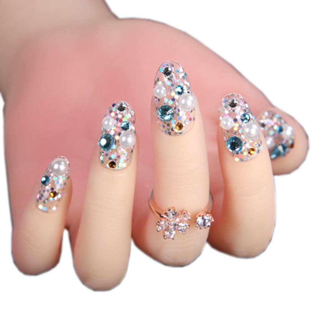 Elegant Bridal Nails Decoration Art Beauty Nails False Nails for ...