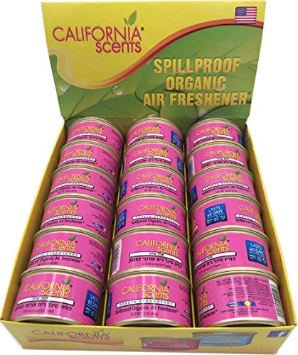 - California Scents Spillproof Organic Air Freshener, Shasta Strawberry, 1.5 Ounce Canister (Pack of 18)