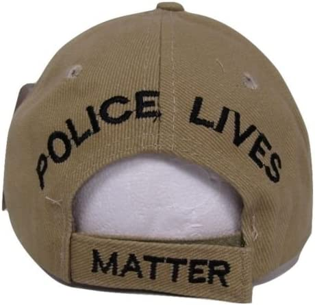 Combo Set Three Police Lives Matter USA Memorial Black Blue Khaki Hat Cap