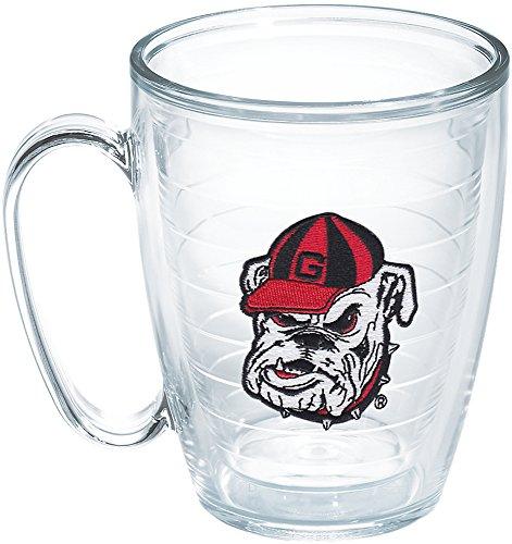 Bulldog Head - Tervis 1087769 Ga University Bulldog Head Emblem Individual Mug, 16 oz, Clear