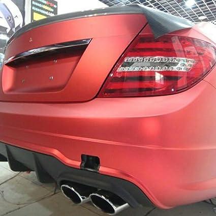 Pellicola professionale 3D in colore rosso opaco effetto metallizzato cromato, con canali d' aria con canali d' aria speedwerk-motorwear
