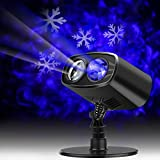LED Projector Lights Landscape Spotlight Waterproof Outdoor and Indoor Party Lights with Snowflake Pattern for Valentine's Day Wedding Christmas Theme Party Landscape and Garden Home Decoration