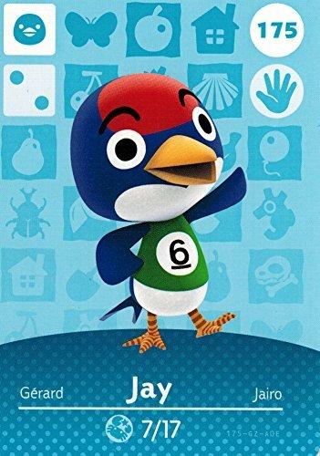 (Nintendo Animal Crossing Happy Home Designer Amiibo Card Jay 175/200 USA Version)