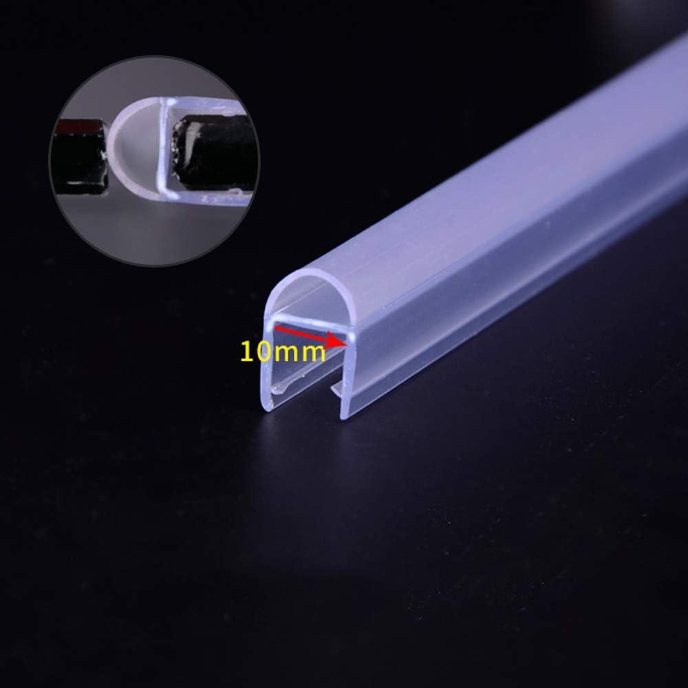 Gummilippe,Maximaler Abstand 15mm MELAG 2m Duschdichtung Duscht/ür und Duschkabinen Dichtung f/ür 6mm,8mm,10mm und12mm Dusche Glast/ür