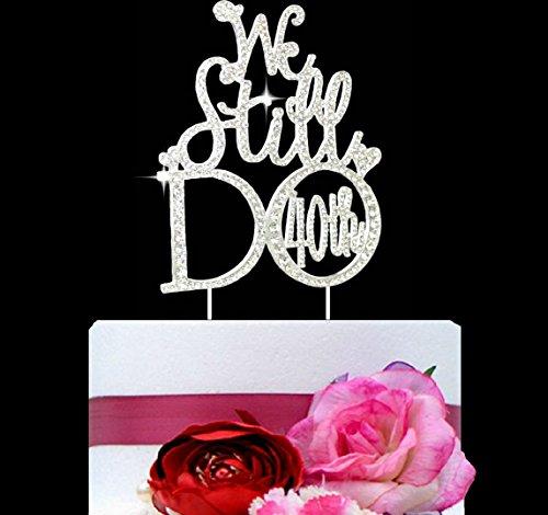 UPC 749357753459, Lulu Sparkles LLC Crystal Rhinestone We Still Do 40th Anniversary or Vow Renewal Wedding Cake Topper Cake Decoration Bling Keepsake