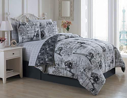 Avondale Manor Amour 8-Piece Comforter Set, King, Black/White]()