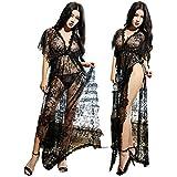 HOT!!Woaills Babydoll Nightwear,Women Sexy Lingerie Sleepwear Lace G String Dress Underwear (Free Size, Black)