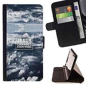 Super Marley Shop - Funda de piel cubierta de la carpeta Foilo con cierre magnšŠtico FOR Samsung Galaxy S6 Edge G9250 G925F- Jesus My God