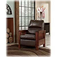 Santa Fe Vintage Bark Faux Leather high Leg Recliner