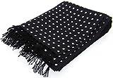 Black/White Polka Dot Luxury Fashion Silk Scarf by David Van Hagen