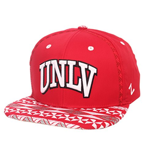 Zephyr NCAA UNLV Rebels Adult Men Makai Snapback Hat, Adjustable, Team Color